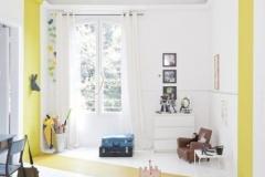 Encadrement mur:sol:plafond jaune