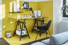 Espace bureau jaune