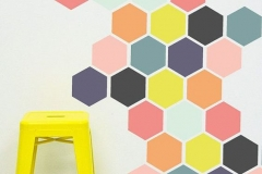 Hexagones multicolores