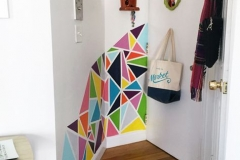 Une entrée en triangles