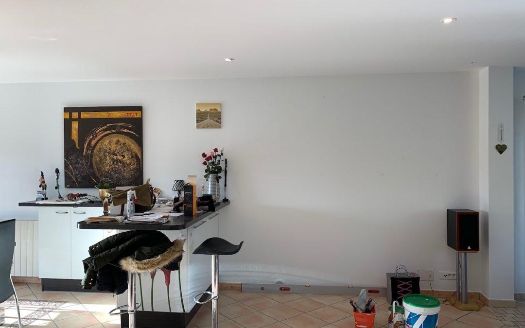 Un triangle gris ardoise pour embellir un salon